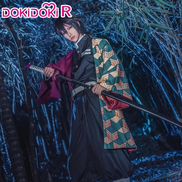 DokiDoki RอะนิเมะCosplay Demon Slayer: kimetsuไม่มีYaiba Tomioka Giyuuผู้ชายKimono Kimetsuไม่มีYaibaคอสเพลย์อะนิเมะ