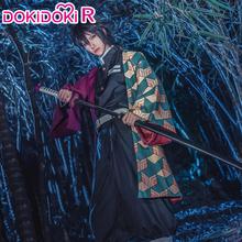 Dokidoki-r Anime Cosplay Demon Slayer Kimetsu no Yaiba Tomioka Giyuu kostium mężczyźni Kimono Kimetsu no Yaiba kostium cosplayowy Anime tanie tanio CN (pochodzenie) Spodnie Zestawy COTTON Kostiumy