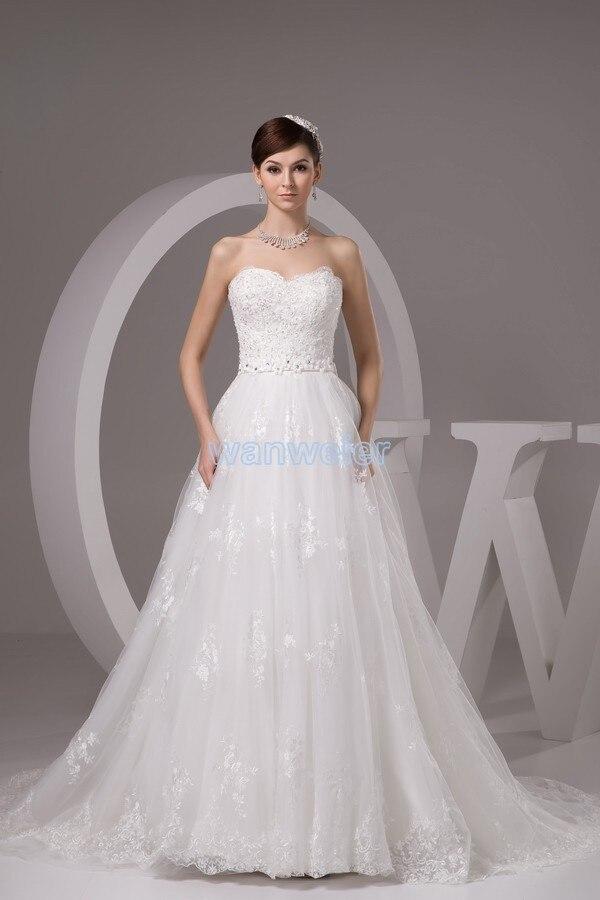 Livraison gratuite 2016 lily collins nouveau design personnalisé taille robe de mariée discount robe de mariée élégant blanc à lacets robe de mariée