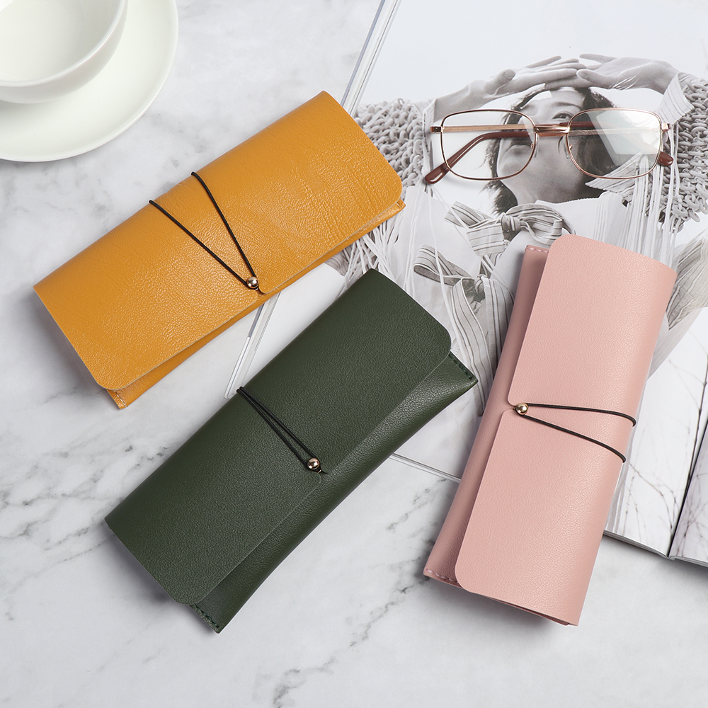 1Pc Unisex Portable PU Leather Glasses Case Sunglasses Holder Box Eyeglasses Storage Pouch Bag Cover Eyewear Accessories