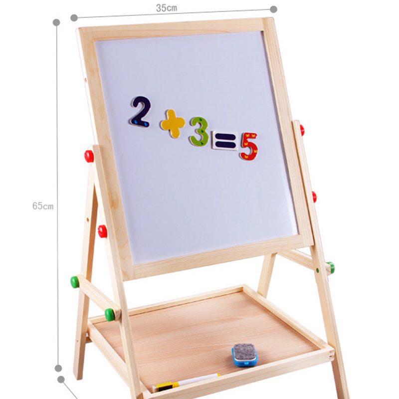 Writing Kit Blackboard Art Easel Whiteboard Magnets Chalkboard GiftExpress 7.5 Whiteboard Double-Sided Wooden A-Frame Art Easel with Educational Alphabet Number Magnets