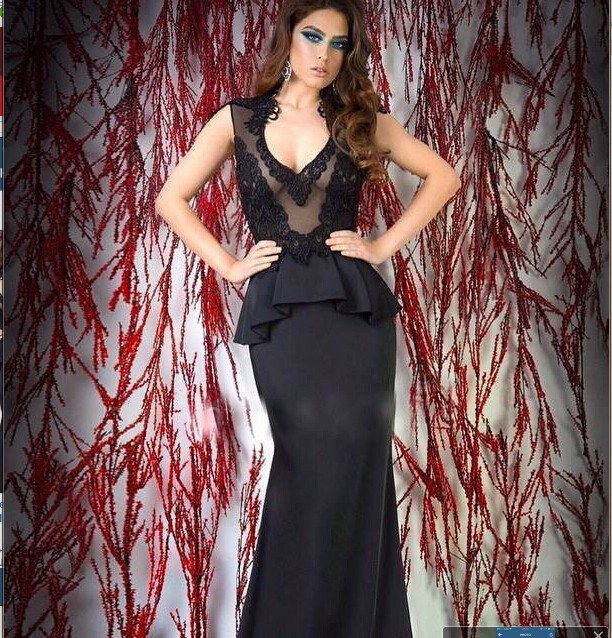 Black High Neck V Neck Appliqued Sleeveless Mermaid Evening Party Prom Gown 2018 Off The Shoulder Mother Of The Bride Dresses