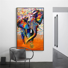 Poster Colorful Elephant Living Room Decoration Painting Wall Art Animal Picture No Frame