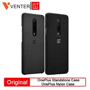 Original OnePlus Protective Case For OnePlue 7 Pro Standstone Case Nylon Case OnePlus Phone Genuine Protective Back Skin Cover(China)