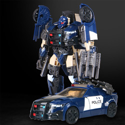Transformação bmb o último cavaleiro barricada figura brinquedos H6001-5 decepticons tráfego polícia carro deformação carro robô modelo