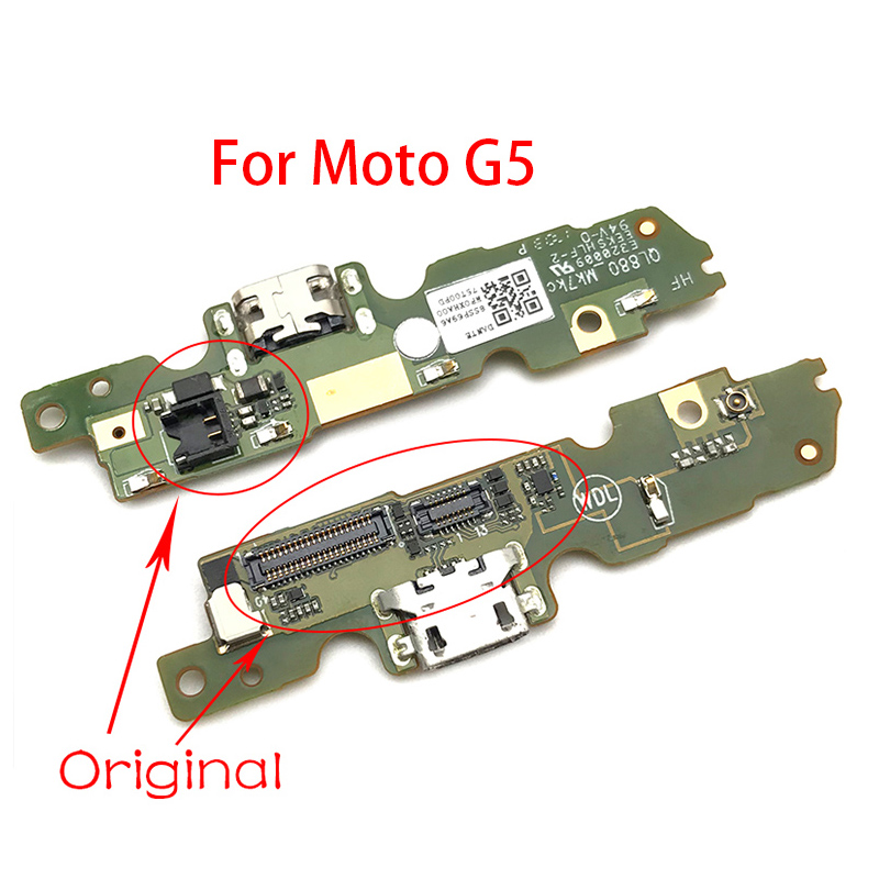 1Pcs USB Charging Charge Connector Plug Dock Port Micro Board  Flex Cable  For Motorola Moto E4 Plus E5 G4 G6 Play G5 E5 Play Go