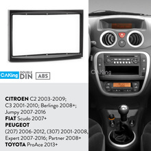 Panel de Radio Fascia para coche citroën C2, Kit de tablero con adaptador de placa y embellecedor de bisel para CITROEN C2 2003-2009; C3 2001-2010; Berlingo 2008 +; Jumpy 2007-2016