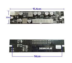 Image 2 - طاقة عالية 250 واط تيار مستمر 12 فولت المدخلات ATX الذروة PSU بيكو ATX التبديل التعدين PSU 24pin ITX تيار مستمر صغير إلى سيارة ATX الكمبيوتر امدادات الطاقة للكمبيوتر