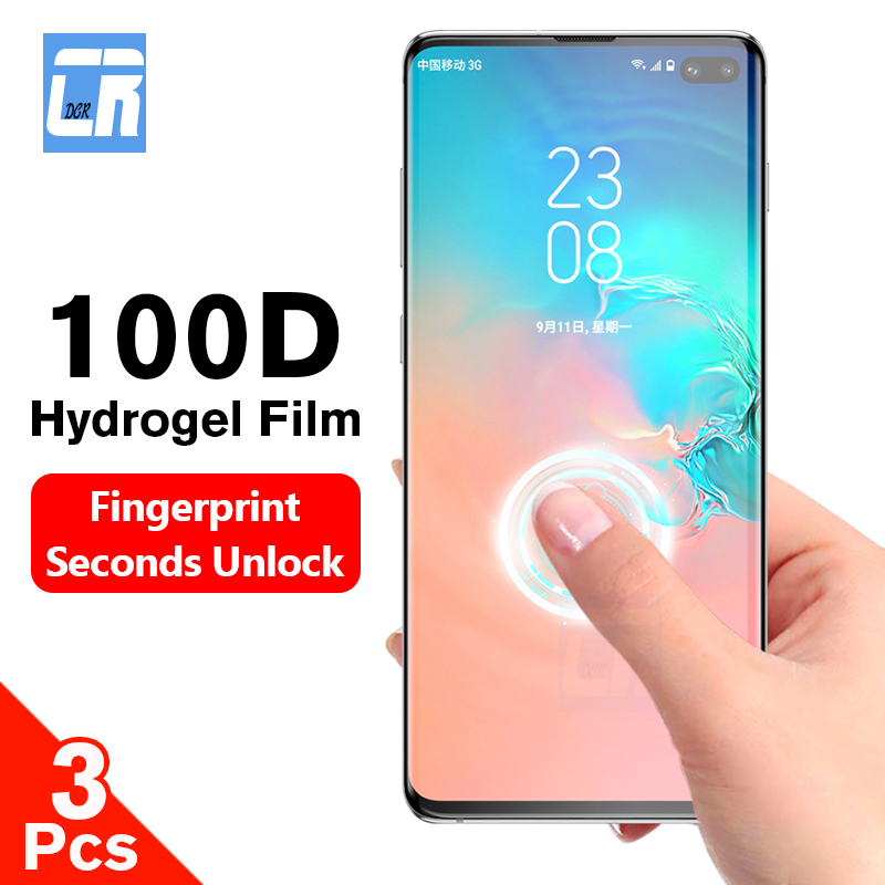 3Pcs Screen Protector Hydrogel Film For Samsung Galaxy S10 S9 S8 Note 10 Plus 100D Protective Film For Samsung Note 8 9 A50 A10