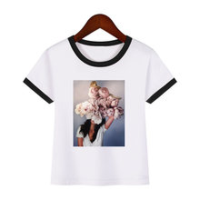 Женская Винтажная футболка с цветочным принтом и птицами летняя