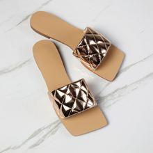 Повседневная женская обувь квадратные сандалии карамельных цветов