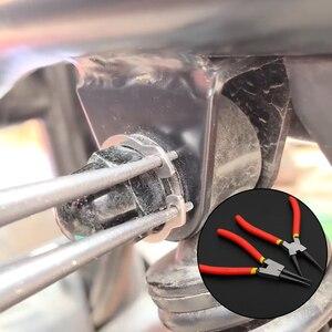 Image 4 - 4Pcs Zubehör Home Sicherungsringzange Set Halte Clip Snap Ring Interne Externe Demontage Frühling Praktische Gebogen Gerade