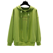 iimadfwiw sweatshirts for girls casual loose letters hooded faux fur hoodies children s clothing for autumn Casual Oversized Hoodies For Women Girls Harajuku Autumn Letter Embroidery Thin Long Sleeve Pullovers Loose Sweatshirts