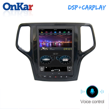 ONKAR Car Multimedia Player For Jeep Grand Cherokee 2014-2019 Android 8.1 RAM 4GB ROM 32GB Built in CarPlay Android Auto Radio