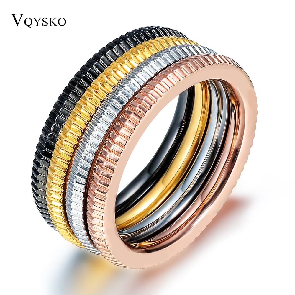 Набор обручальных колец для мужчин и женщин, классические ювелирные изделия, 4 цвета, нержавеющая сталь, вечерние аксессуары