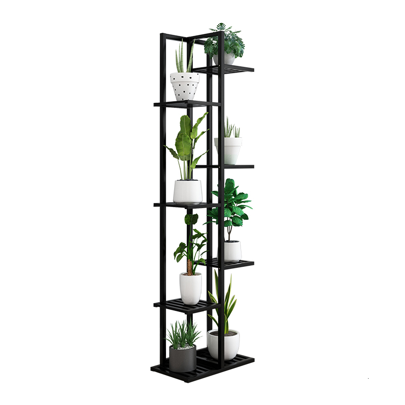 Household Shelf Multi-storey Balcony Decorate Solid Wood Quality Indoor Living Room Green Luo Flowerpot Shelves Flower Rack