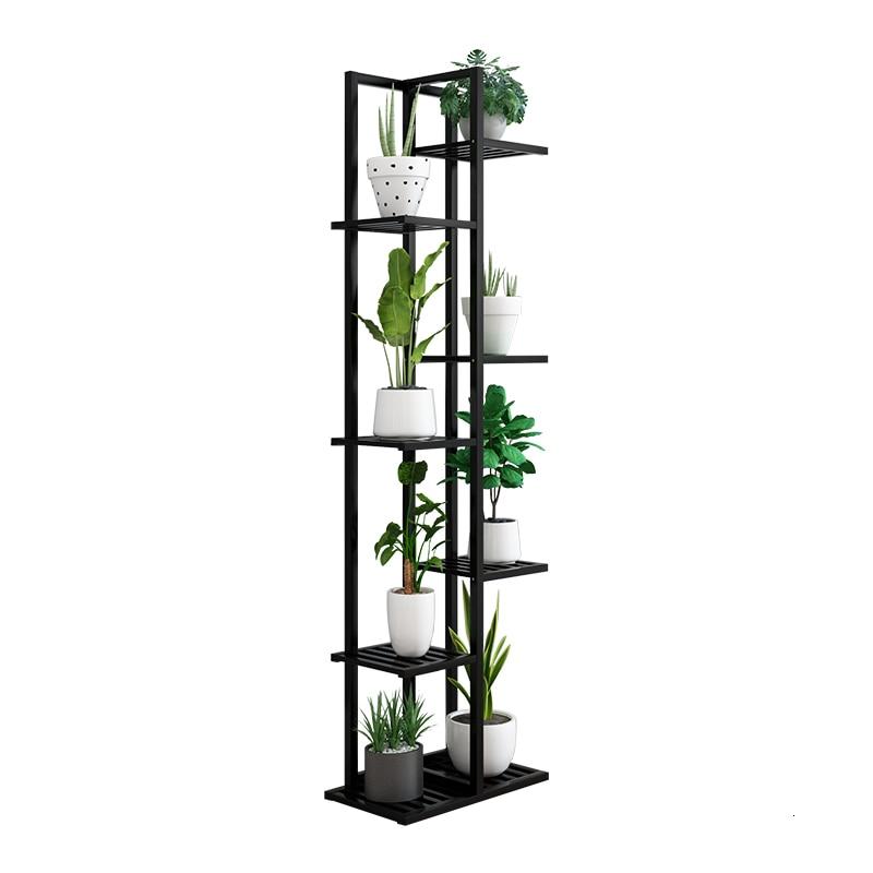 Household Shelf Multi-storey Balcony Decorate Solid Wood Quality Indoor Living Room Green Luo Flowerpot Shelves Flower Rack