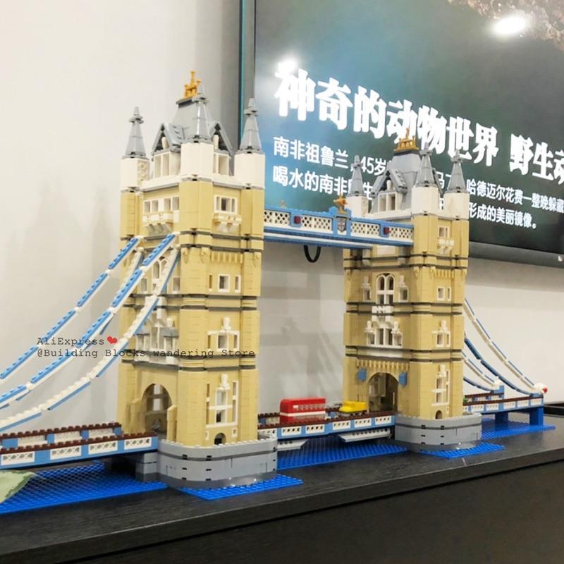 4295 Pcs World Famous Architettura London Tower Bridge Creatore Esperto Compatibile Legoinglys Building Blocks Fai da Te Giocattoli 17004 10214 - 2