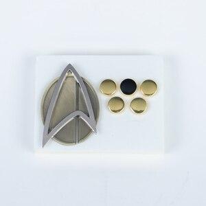 6 шт./компл. Star Picard Combadge Rank Pips брошь Trek Command Science Engineering Pin значок аксессуары