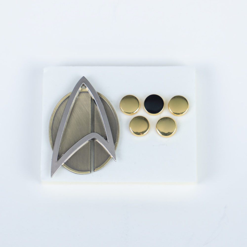 6pcs/set  Star Picard Combadge Rank Pips Brooch Trek Command Science Engineering Pin Badge Accessories