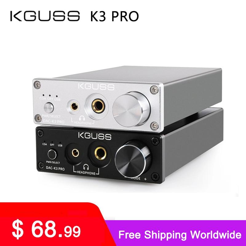 KGUSS DAC-K3PRO K3 PRO TPA6120A2 ESS9018K2M мини USB DAC декодирования аудио усилитель для наушников 24BIT 192 кГц усилитель DC12V US/EU
