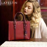 LAFESTIN 2019 new luxury women bag fashion large capacity handbag temperament shoulder Messenger bag leather women handbags