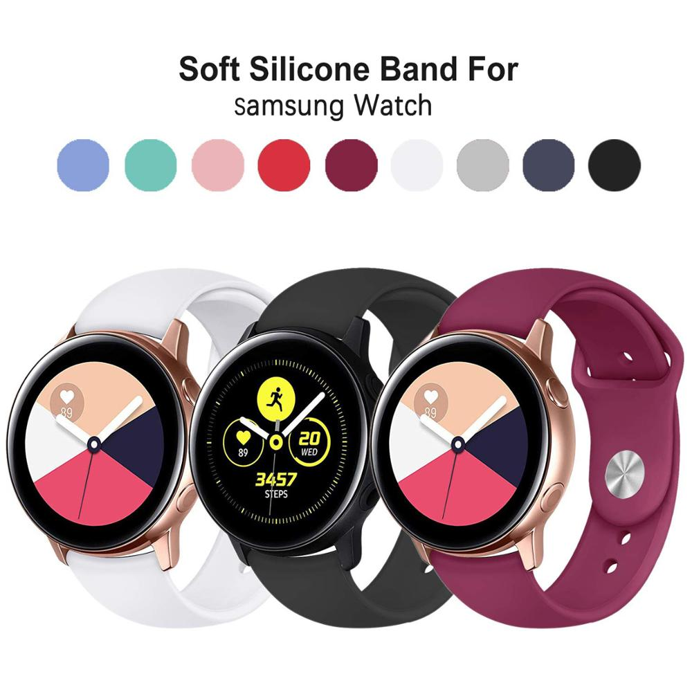 22mm 20mm Sport Band For Samsung Gear Sport S2 S3 Galaxy Watch Active 42mm 46mm Silicone Strap For Huami Pebble Time Huawei Gt 2