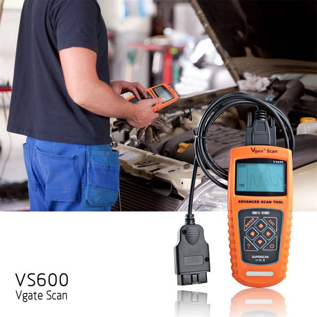 Franchise Code Readers & Scan Tools LCD Autos VS600 Universal OBD Vgate Scan OBD2 EOBD CAN BUS Fault Code Scanner Diagnostic