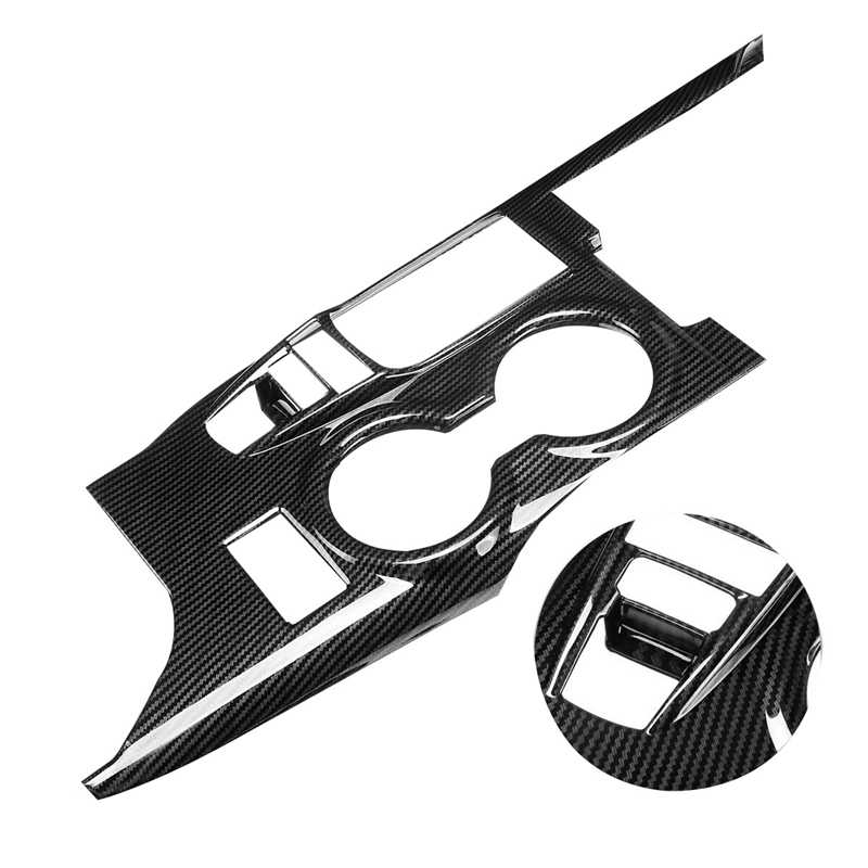 In Fibra di Carbonio Centro Console Pannello Della Scatola Del Cambio Della Copertura Trim per Toyota Camry 2018-2020