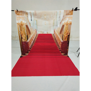 Image 2 - Allenjoy wedding background photography classic palace red carpet vintage stair professional backdrops photobooth photo studio