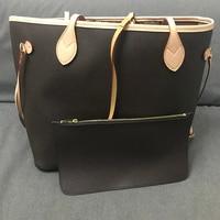 Excellent Quality Neverful Bag Women Shopping Bag Luxury Brand Monogrom Never Shoulder Bag Canvas Leather Full Handbags MM/G