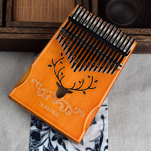 Image 5 - 17 ключей Bull калимба большой палец пианино из красного дерева тела музыкальный инструмент лучшее качество и цена