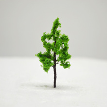 5cm DIY Sand Table Model Green Wire Tree 100pc Miniature Color Forest Plants For Diorama Tiny Achitecture Wargame Scenery Making