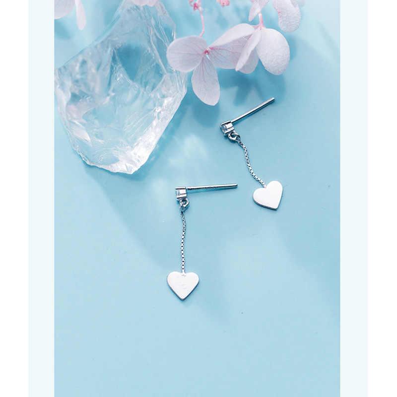 Trusta Baru 925 Sterling Silver Anting-Anting Perhiasan Hati Kecil Anting-Anting Anting-Anting Cinta Hadiah Ulang Tahun untuk Anak Perempuan Sekolah Remaja DS1315