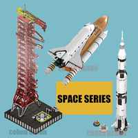 SPACE Shuttle Apollo Rocket Saturn-V Launch Umbilical Tower Fit Legoings Technic for Rocket Building Block Bricks 10231 Gift Kid