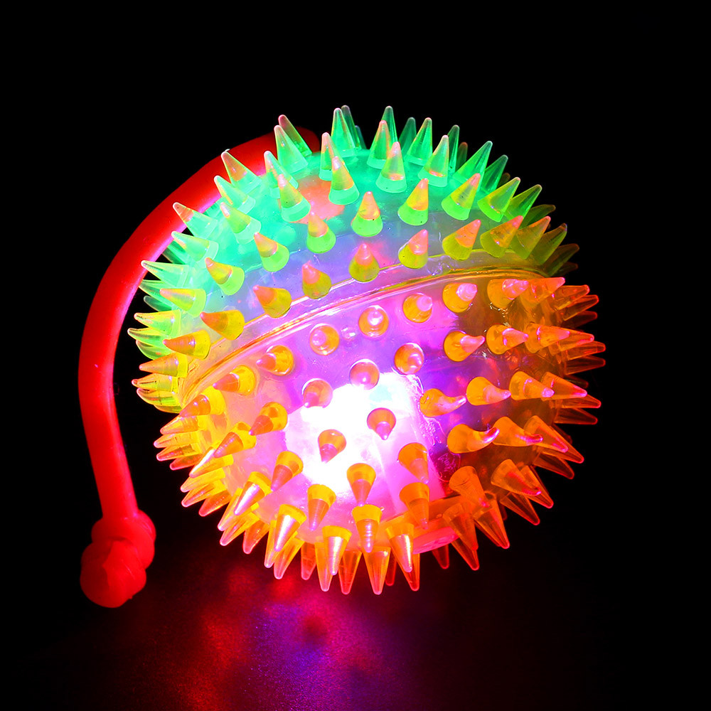 Anti-stress Flashing Puffer Balls Squeezable Stress Toy Stress Illuminate Relief Ball For Fun For Children Adults Drop Shipping