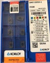 Apmt1135pder q pc5300 apmt1604pder q pc5300 100% original korloy apmt1135 apmt1604 carboneto de inserção