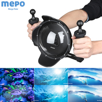 SHOOT for GoPro Hero 7 6 5 Black Dome Port with Stabilizer Tray Waterproof Case Housing Diving Cover Dome for GoPro 7 Accessory