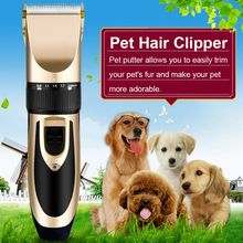 Professional Low-Noise Grooming Kit Cat Dog Hair Trimmer Electric Pet Hair Clipper Shaver Set Haircut Machine USB Charging/US/EU