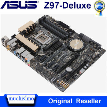 LGA 1150 Asus Z97-Deluxe Motherboard Cpu Core i7/i5/i3 DDR3  Intel Z97 PCI-E 3.0 Original Desktop 1150 Asus Z97 Mainboard Used