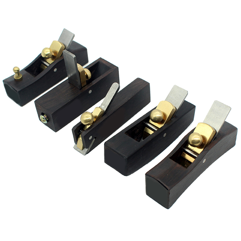 DIY Mini Hand Planes Carpentry Carpenter Ebony Joinery Woodwork Tools 5 Pcs Set Hand Planer
