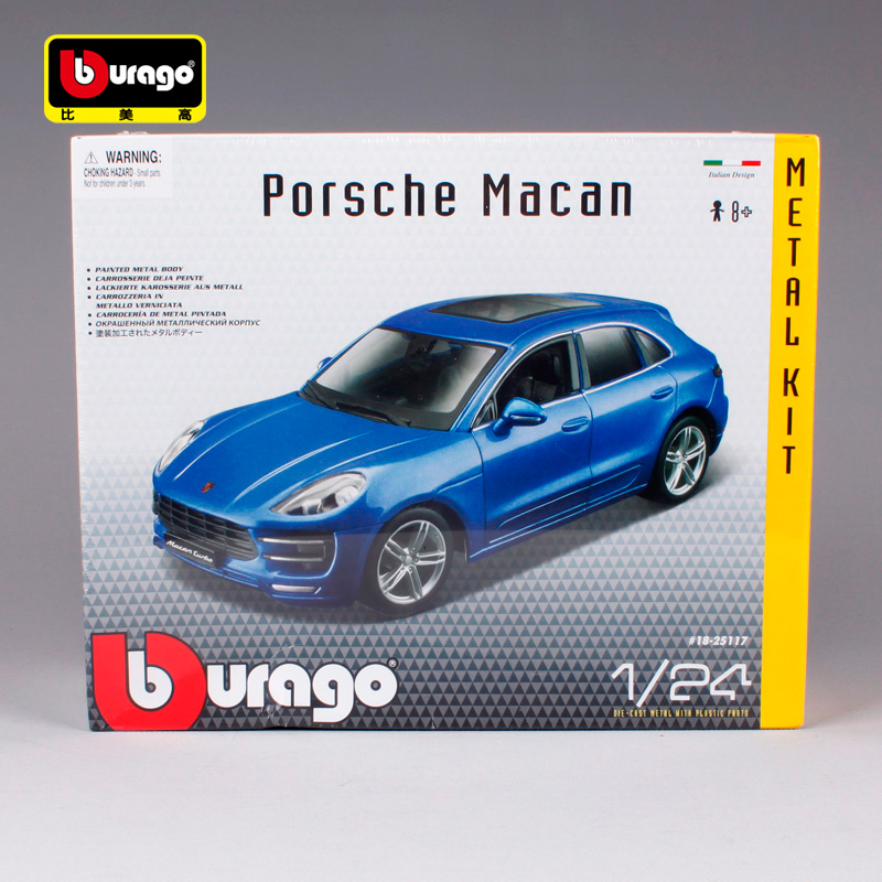 Bburago 1:24 Porsche Macan SUV Car Assembly Model DIY Diecast Model Car Toy New In Box Free Shipping Adult Toy Collector 25177