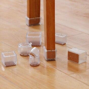 10pcs Transparent PVC Chair Leg Caps Non-slip Furniture Table Stools Foot Cover Floor Protector Pads Silent Sofa Leveling Feet