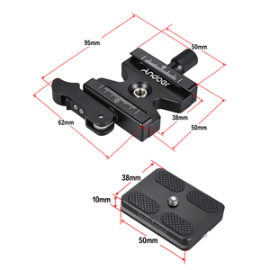 """Image 5 - Andoer Quick Release Plate Quick Release Clamp for Arca Swiss with Adjustable Lever 1/4""""3/8 Screw Hole Grips for Ballhead Tripod"""
