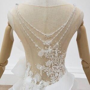 Image 5 - HTL1398 V Neck Wedding Gowns Applique Mermaid Wedding Dress Illusion Bride Dress Bohemian Pearl свадебное платье русалка