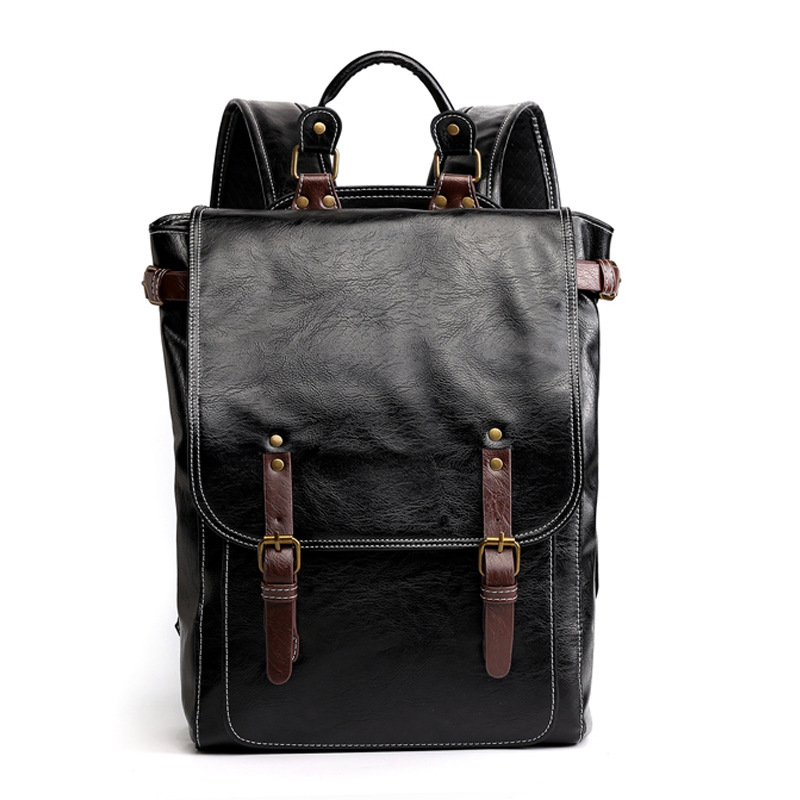 New Retro Fashion Bag Cover Men's Backpack Men's Shoulder Backpack Outdoor Leisure Bag Travel Bag Large-capacity Bag