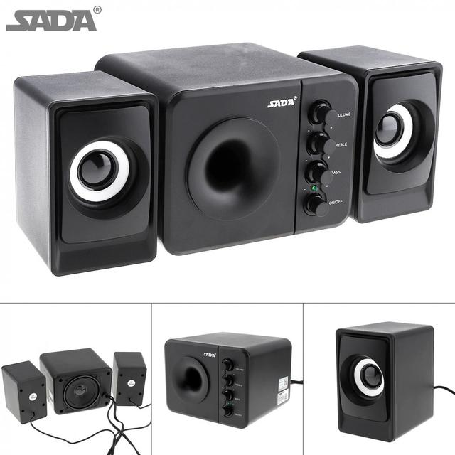 D 205 USB2.0 Subwoofer Computer Speaker with 3.5mm Audio Plug and USB Power Plug for Desktop PC / Laptop / MP3 / Cellphone / MP4