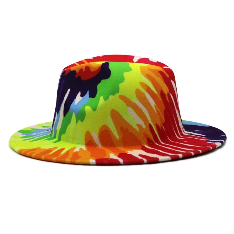 Chapeau Fedoras coloré à large bord