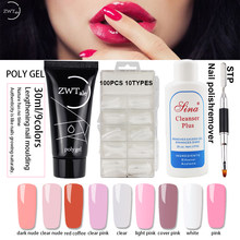 ZWTale Poly Gel Set 30ml 9 kleuren Quick Building Gel Nagellak Nagel Gel Lak Extentions Poligel Kit(China)