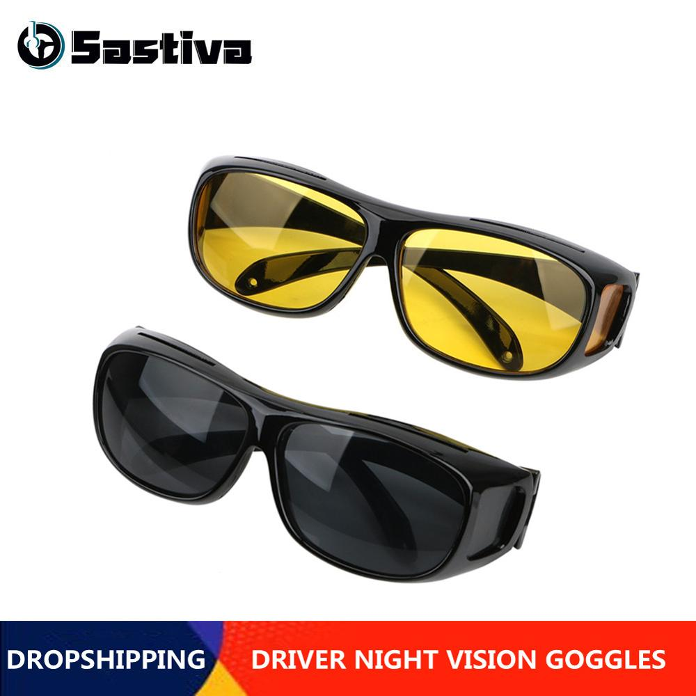 Night Vision Drivers Goggles  HD Vision Anti UV Sun Glasses Car Driving Glasses Women Man Sunglasses Eyewear Protection